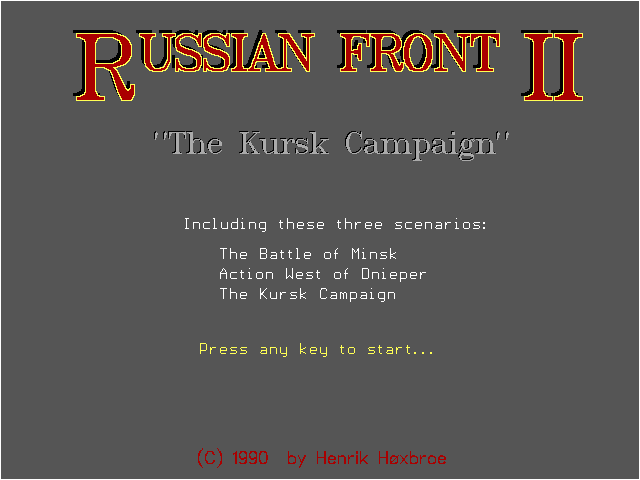 Russian Front 2 - The Kursk Campaign