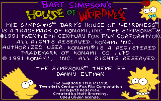 Simpsons - Bart Simpson's House of Weirdness
