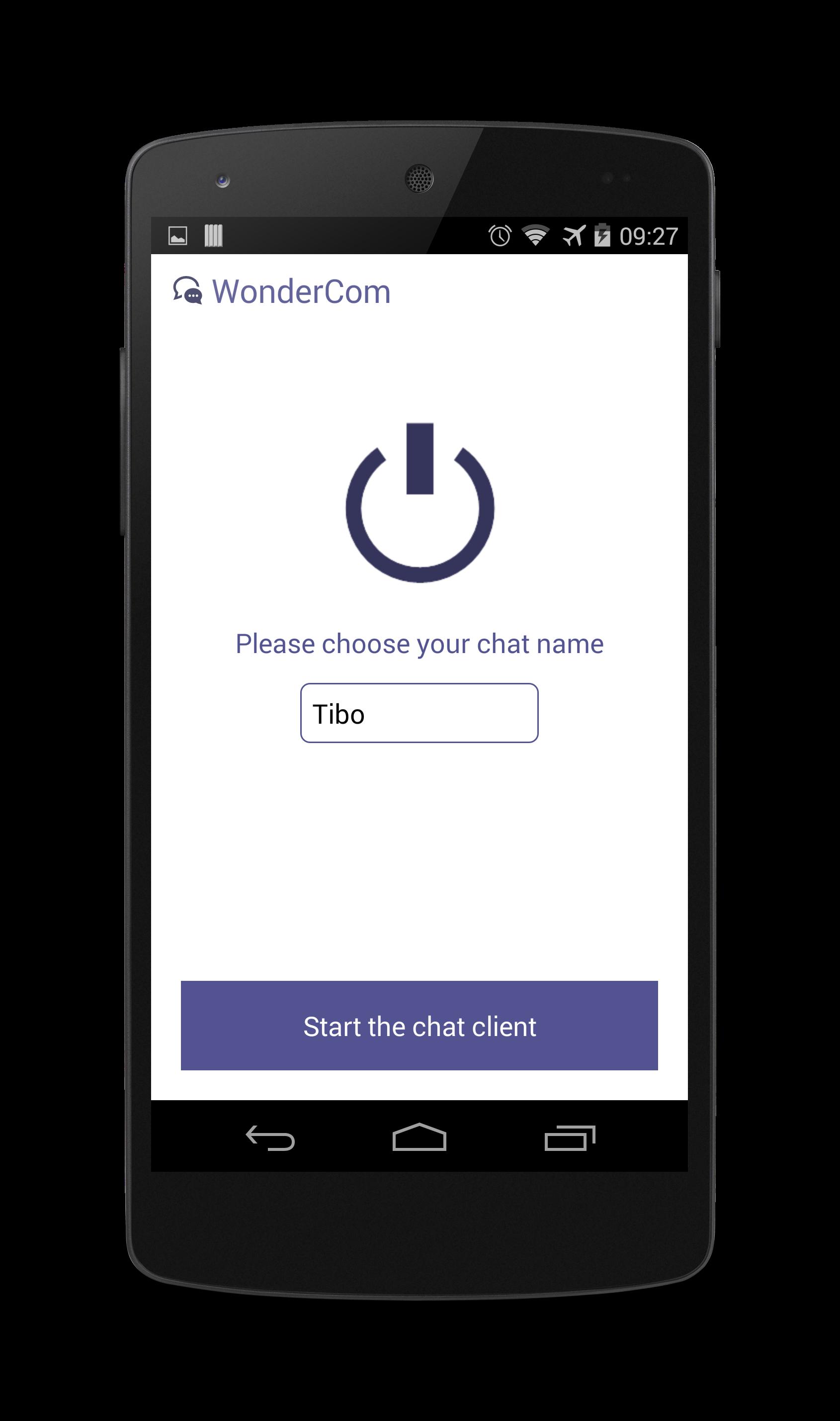 GitHub - rubeus90/WonderCom: Android chat application using Wifi Direct