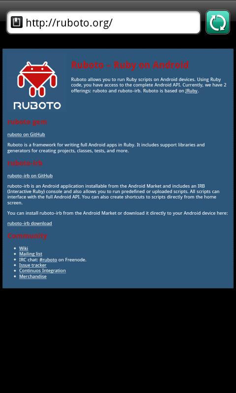 Ruboto Home Page