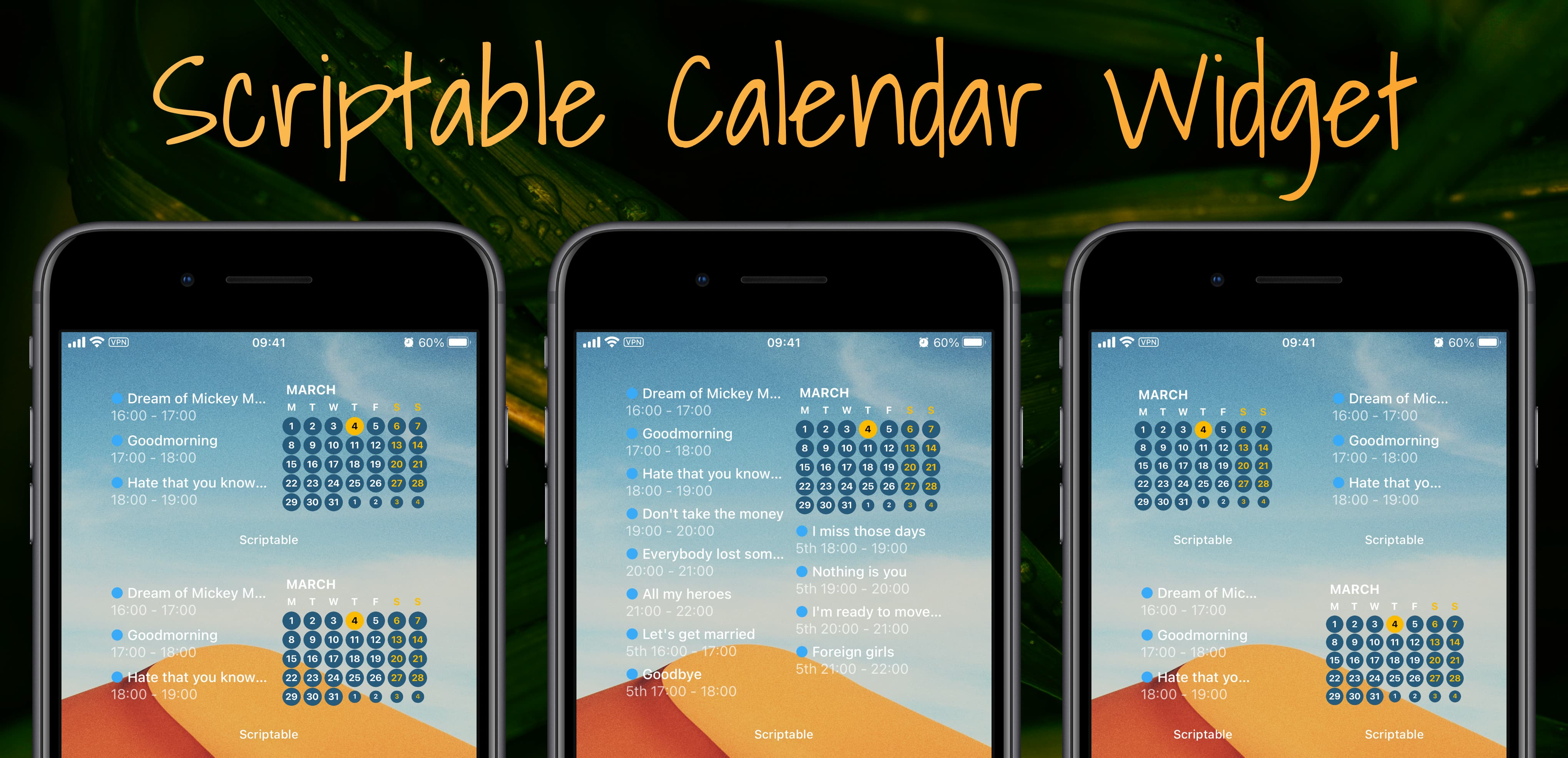 scriptable calendar