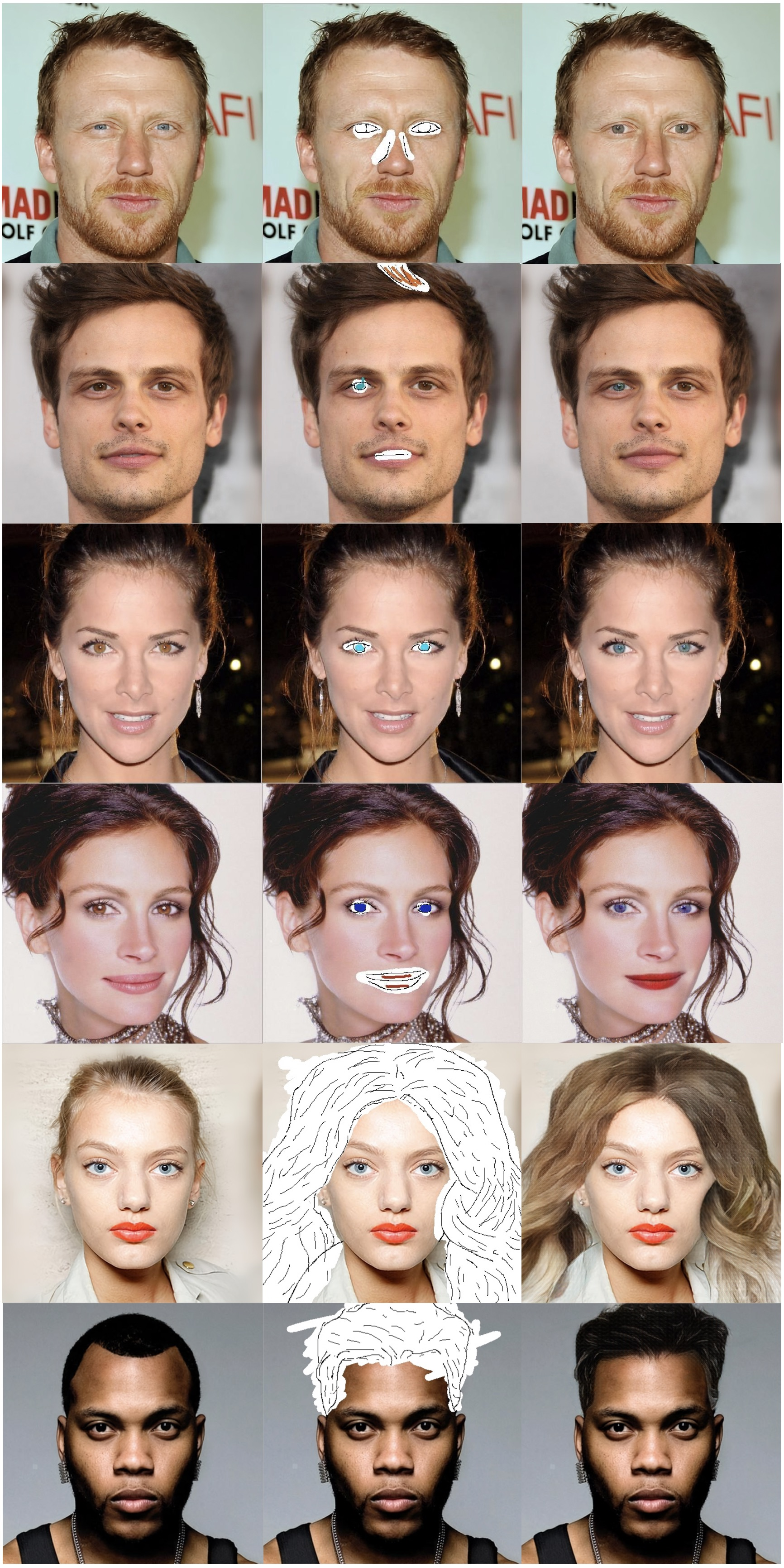 Face editing