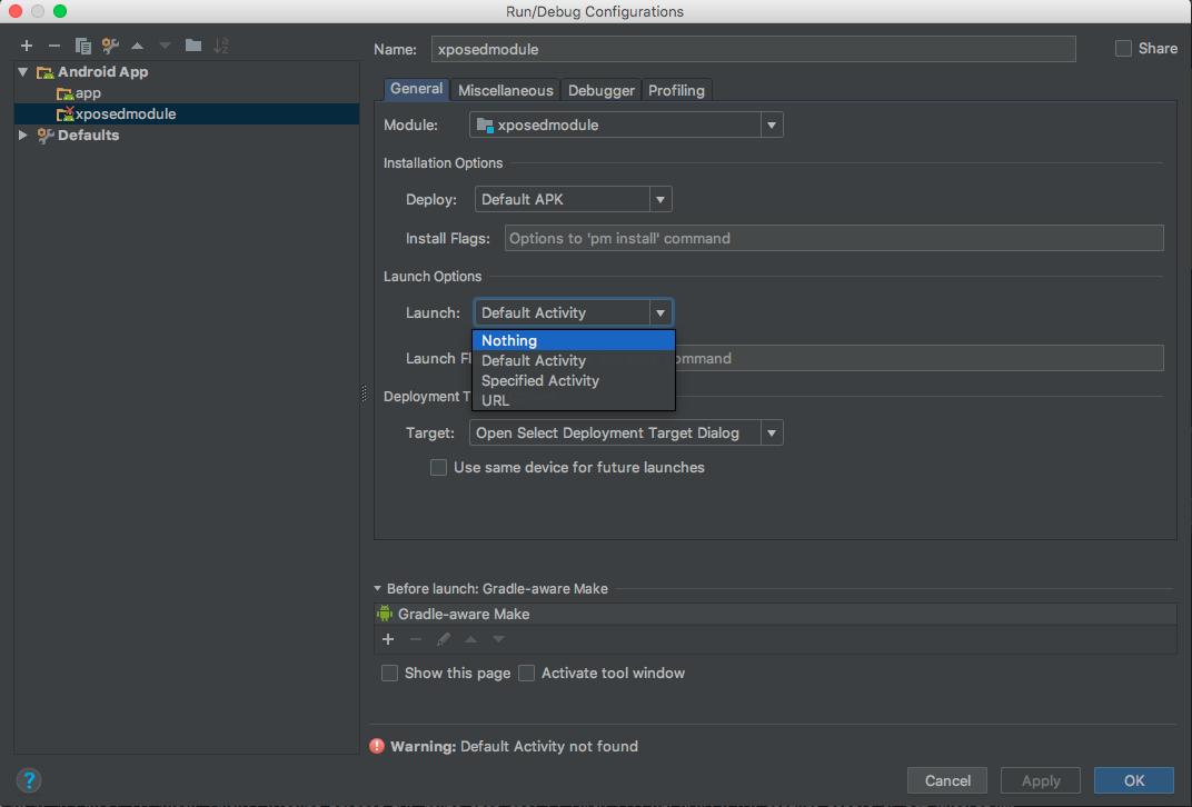 XposedModule project settings