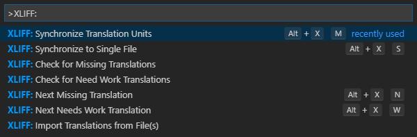 XLIFF Sync Command Palette Commands