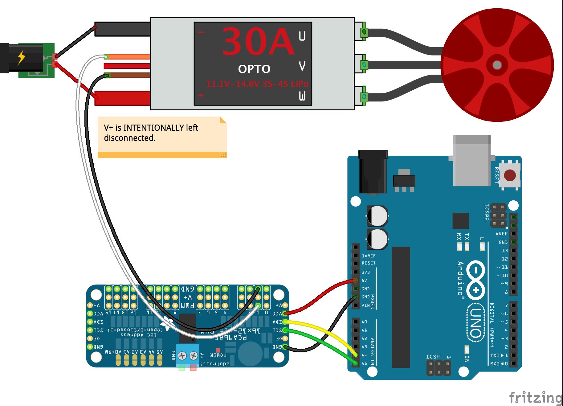JavaScript Robotics: ESC API (Johnny-Five)