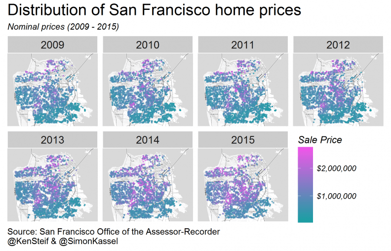 Mapping San Francisco home prices using R