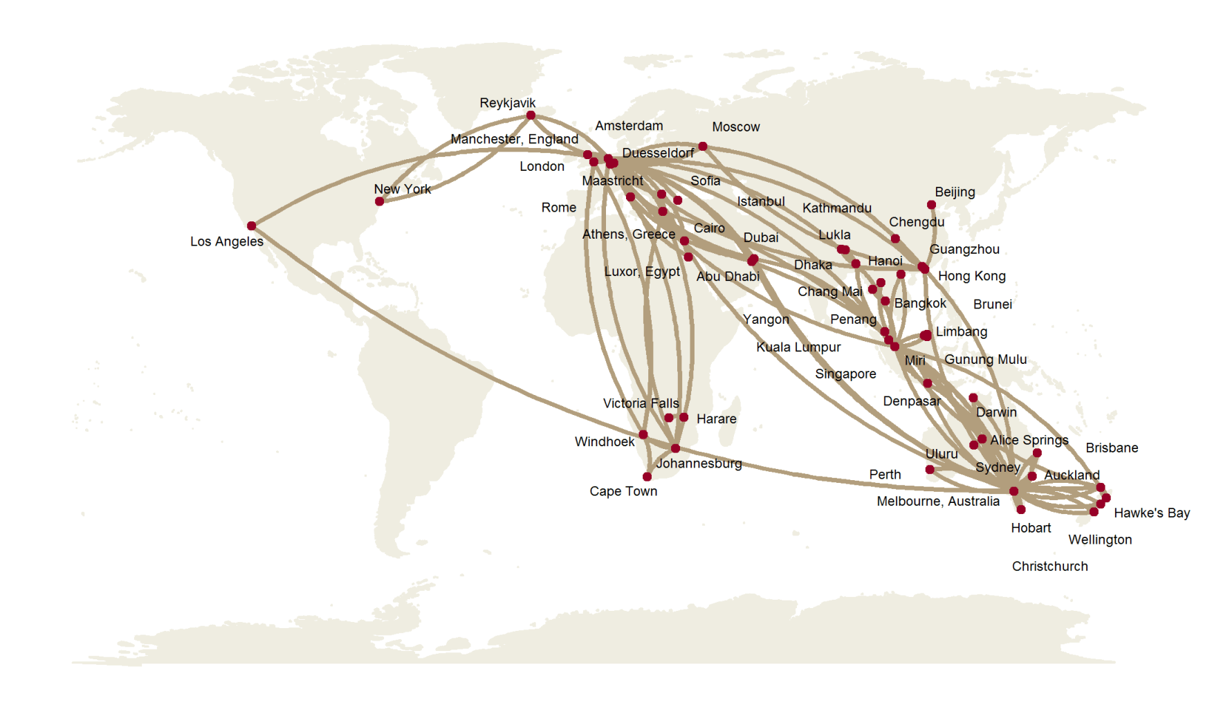 Create Air Travel Route Maps in ggplot: A Visual Travel Diary