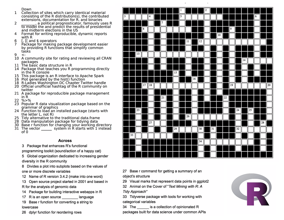 R-Ladies Crossword Puzzle Challenge