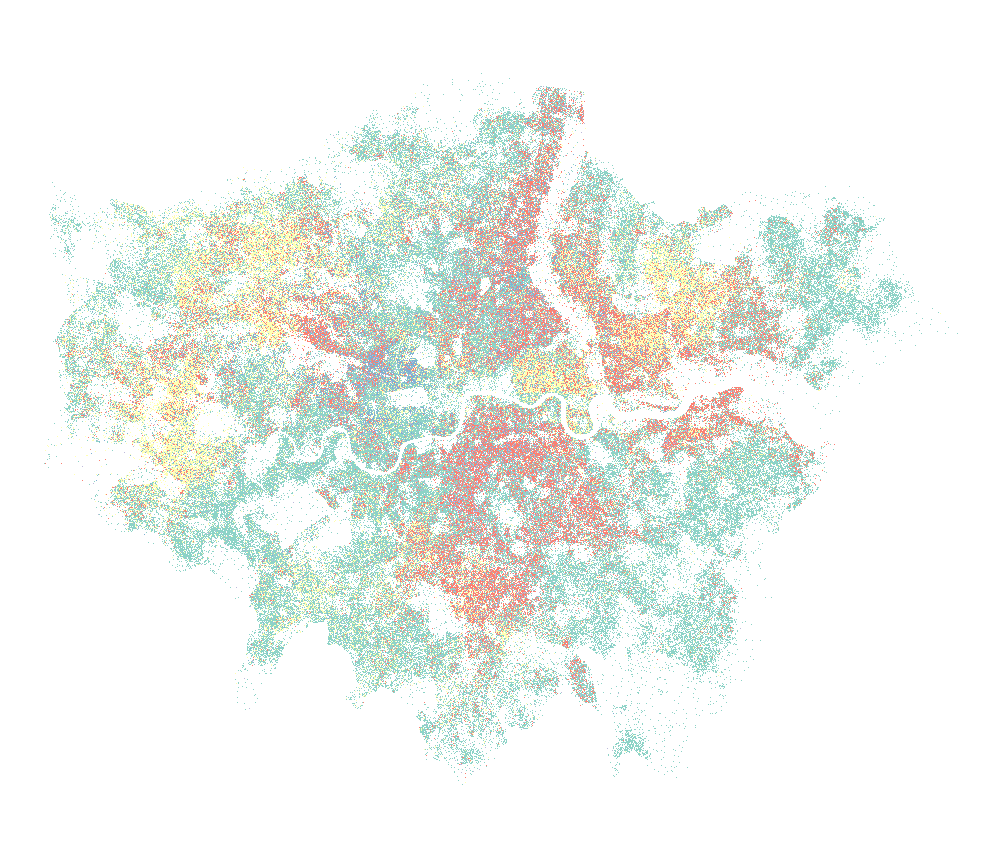 Multivariate Dot-density Maps in R with Sf & Ggplot2
