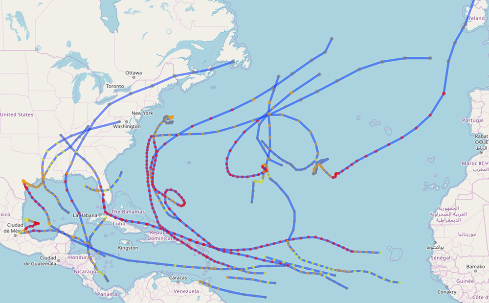 Visualizing Hurricane Data with Shiny