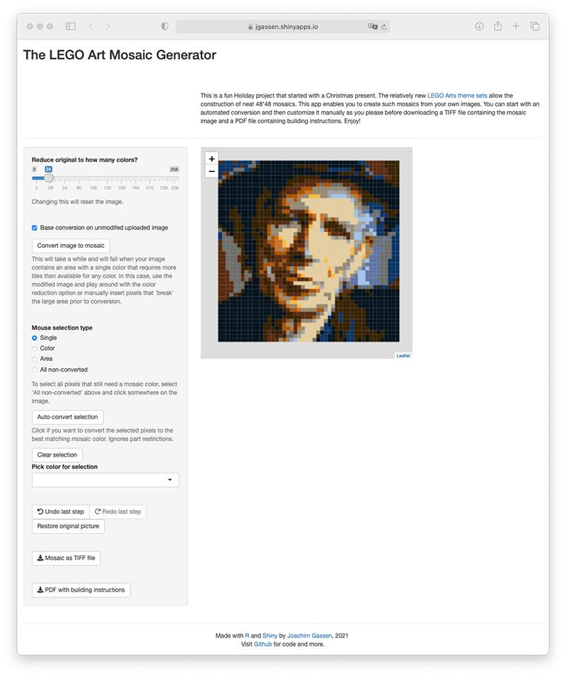 Meet the LEGO Art Mosaic Generator