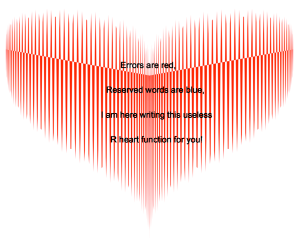 Little useless-useful R functions – Useless R poem for Valentine