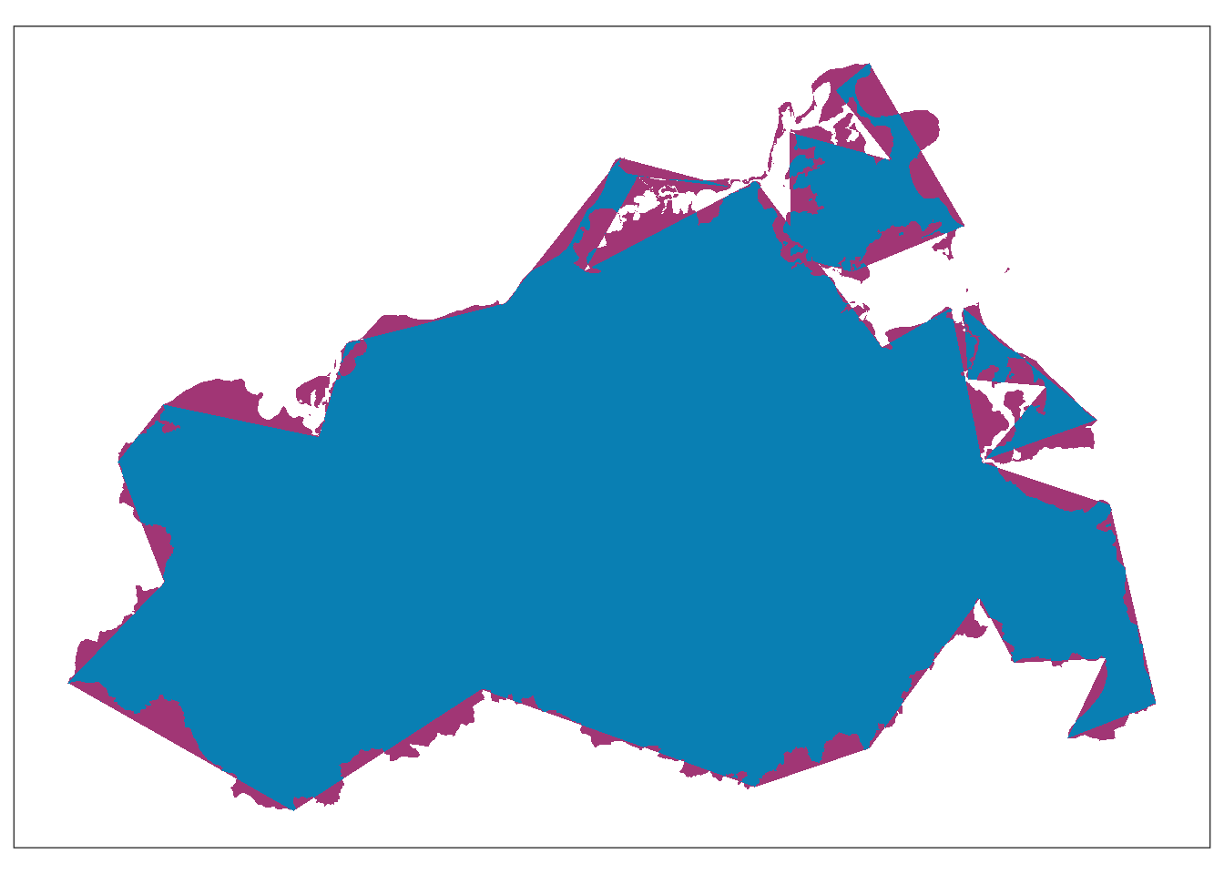 A simplified administrative boundary overlaid on the original