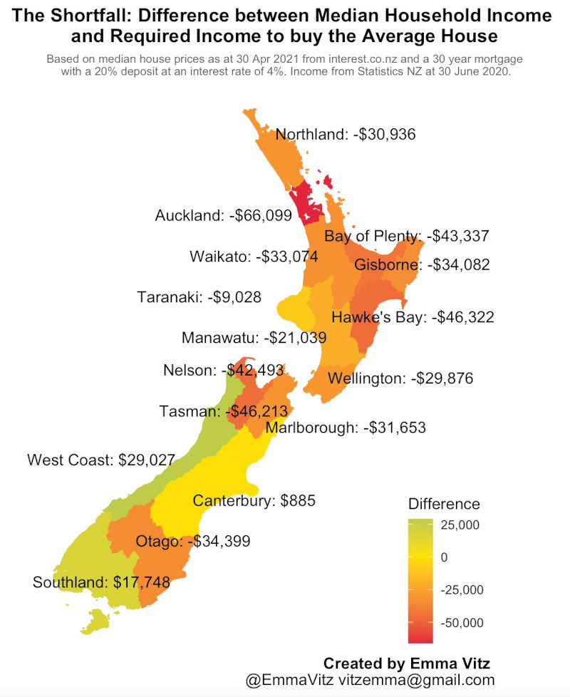 Housing unaffordability hexmaps
