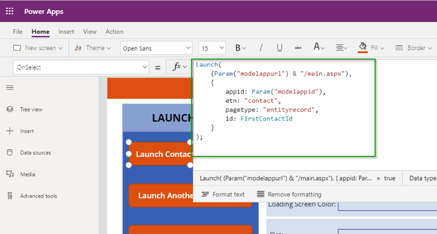 Build Link to Model App