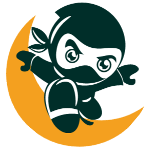 The RxJS Logo, a Ninja jumping over a moon