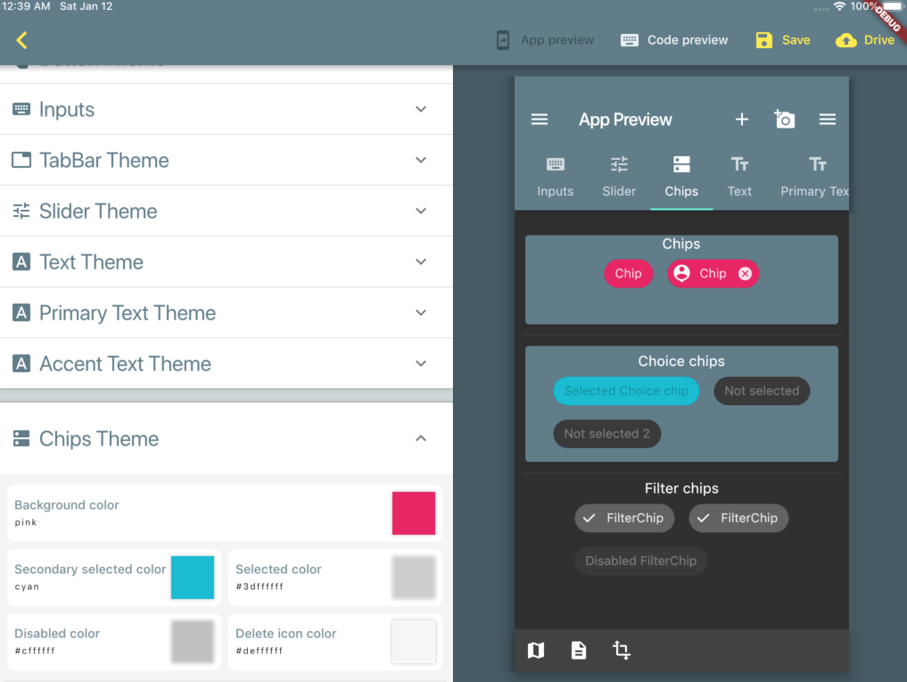 Flutter Material Theme editor