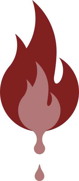 liquid fire color icon