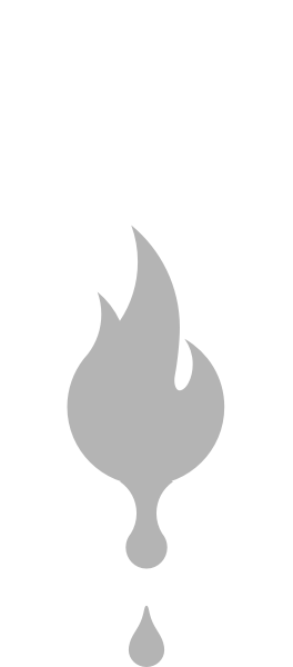 liquid fire grayscale icon