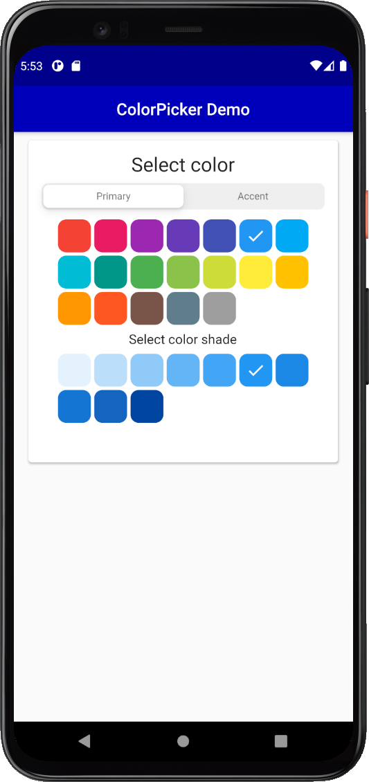 ColorPicker default