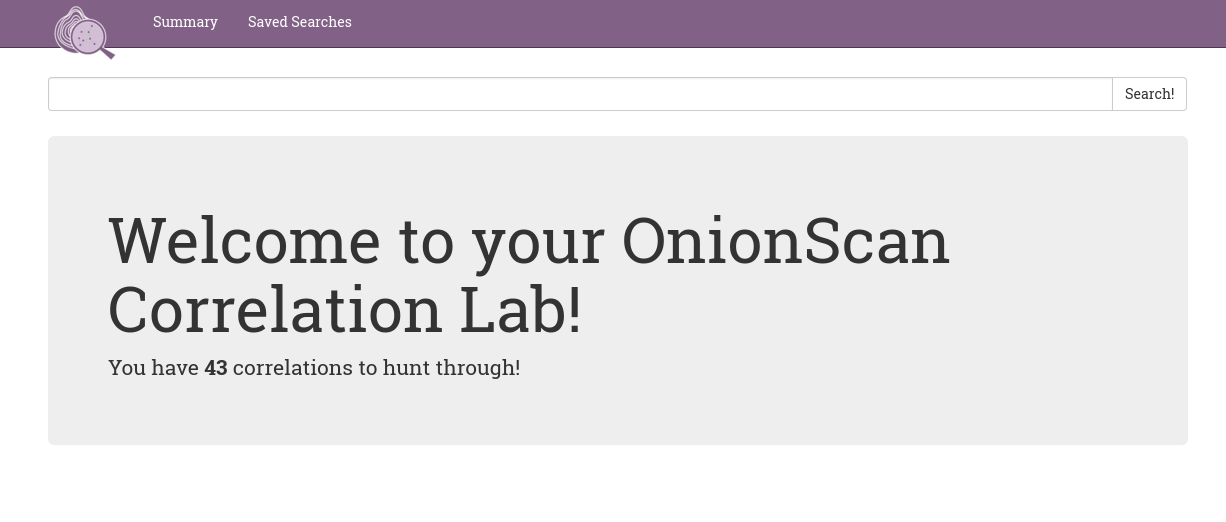 OnionScan is a free and open source tool for investigating the Dark Web