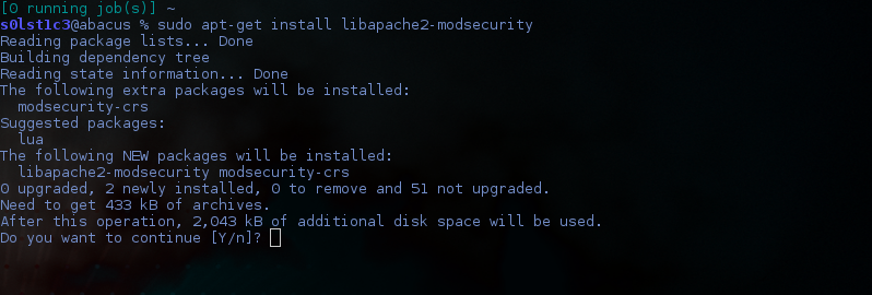 install mod security