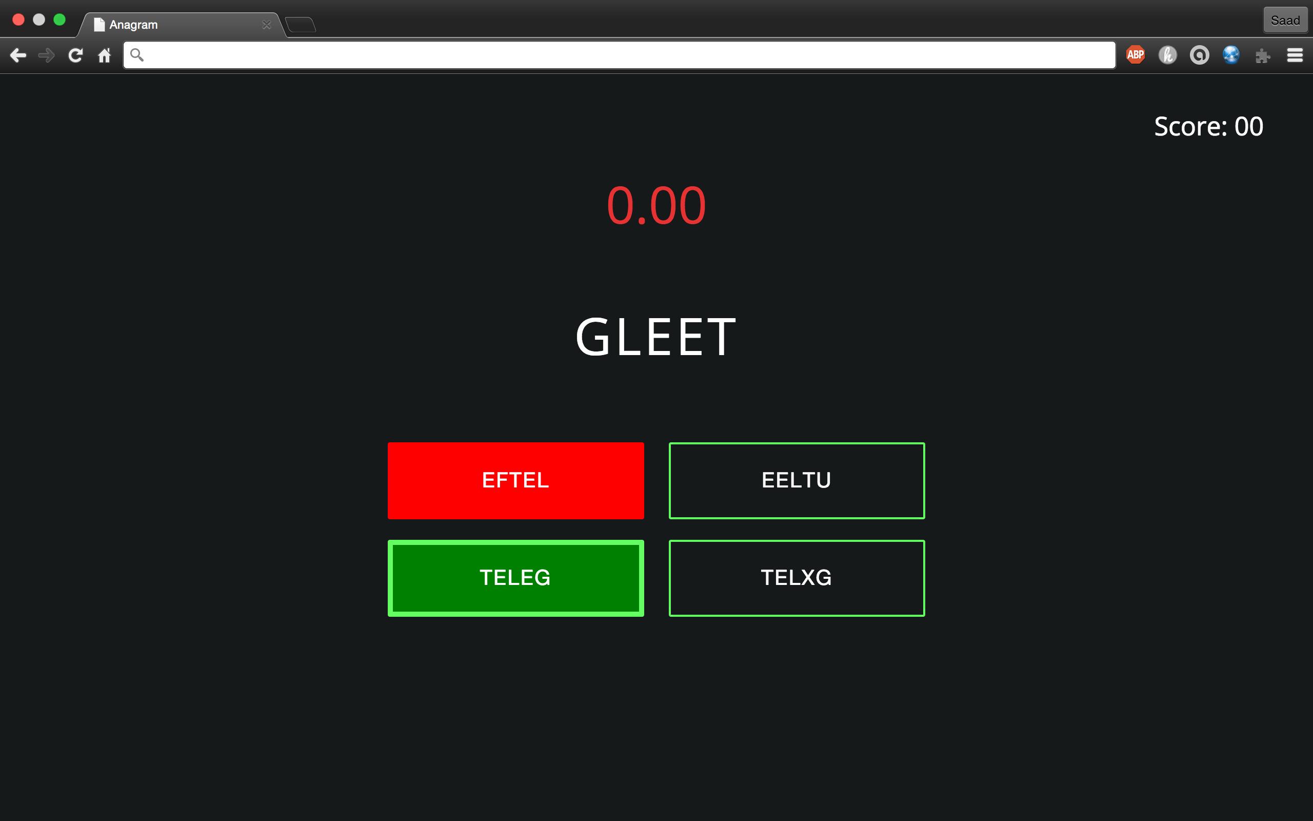 GitHub - saadq/Anagrams: A fun game involving anagrams.