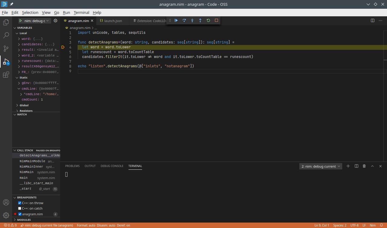 Debugger preview screenshot
