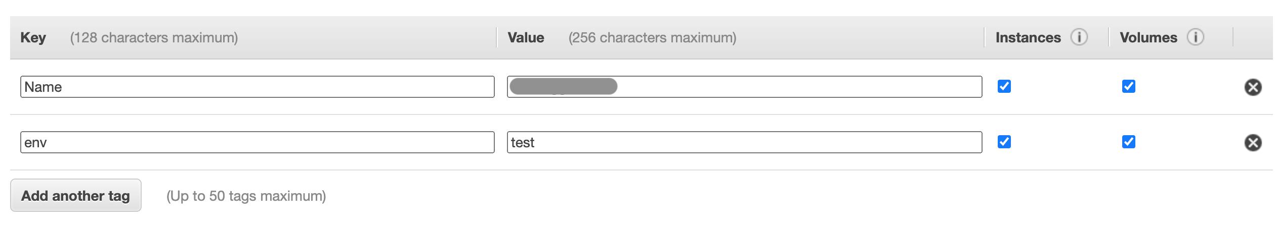 Adding Tag env to EC2 instance