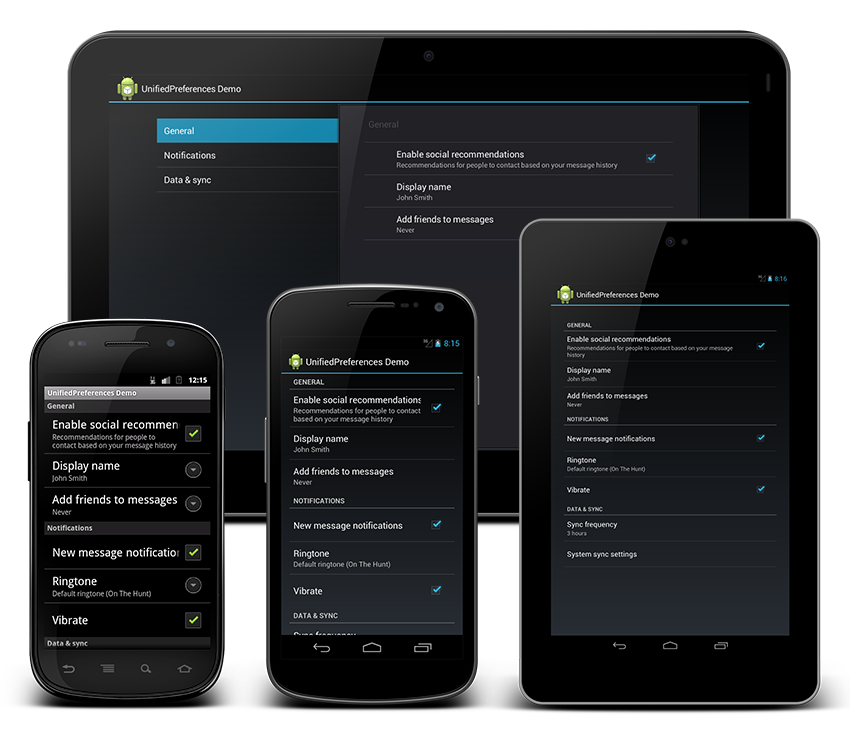 UnifiedPreference– Android Preference助手库