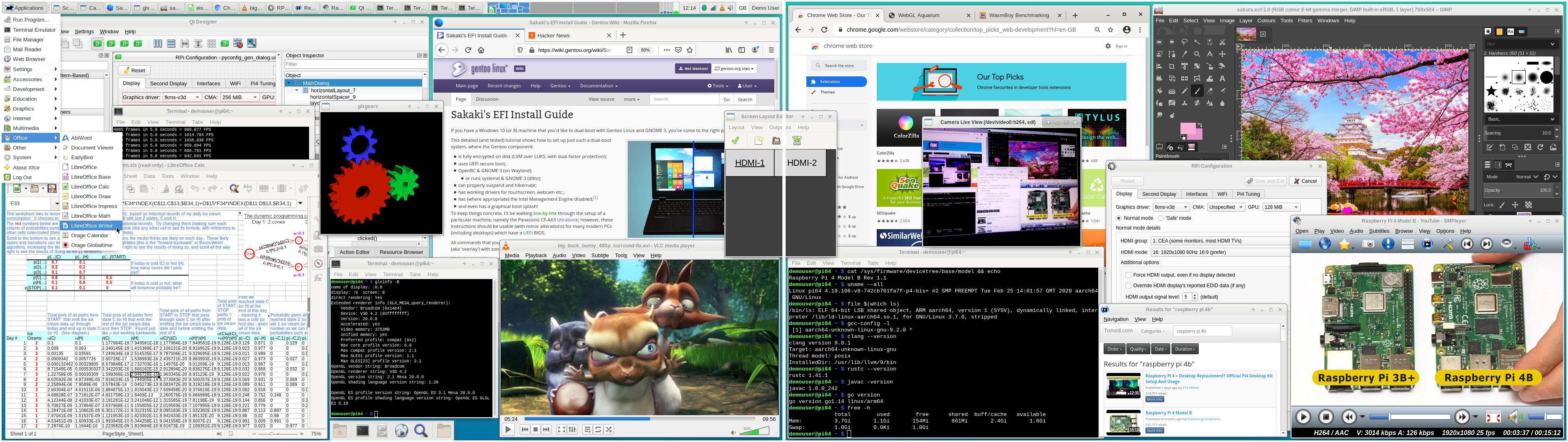 Gentoo Running on Raspberry Pi 4B