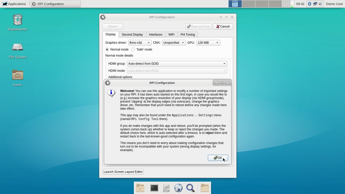 [Baseline Xfce desktop]