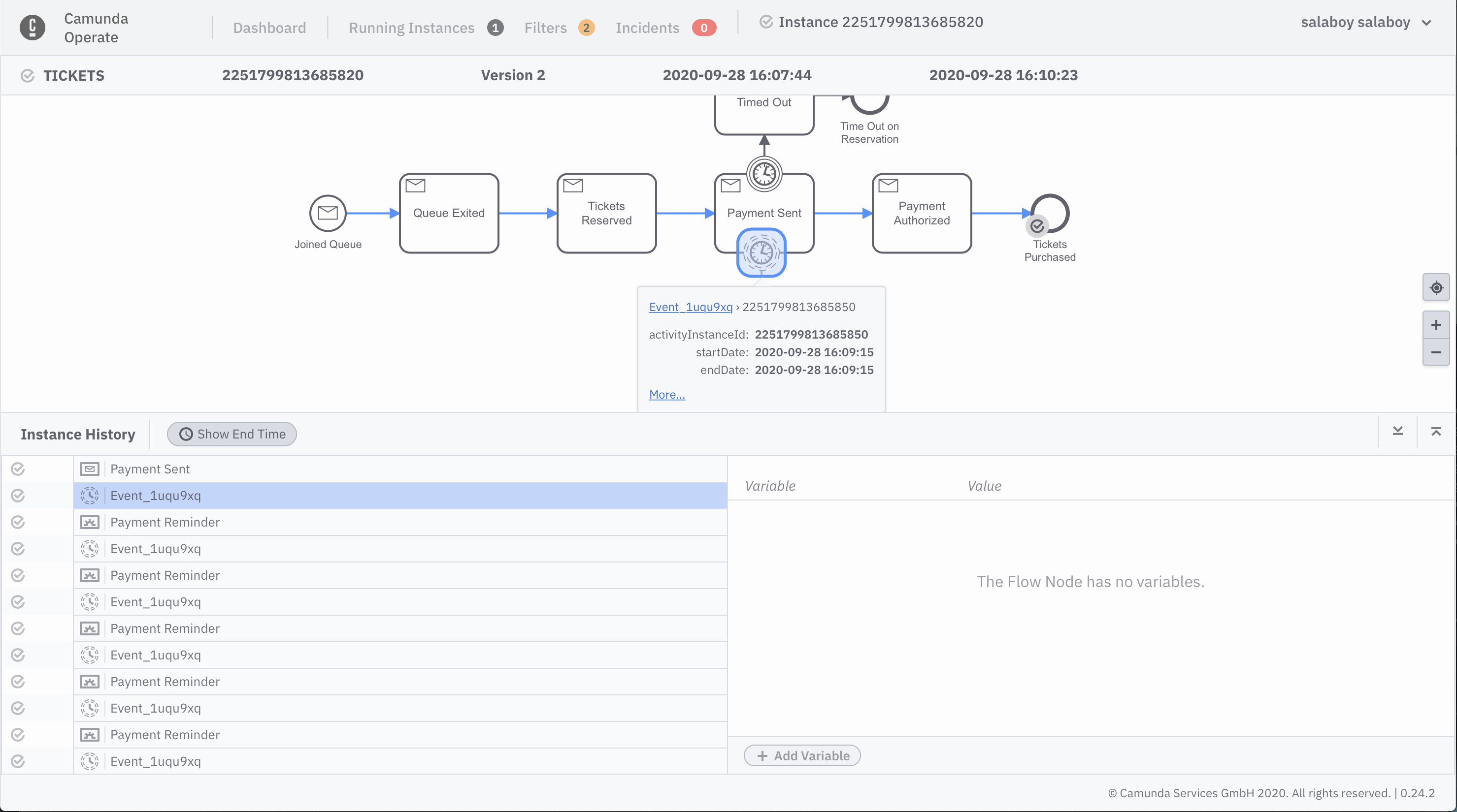 Workflow model v2 in Operate