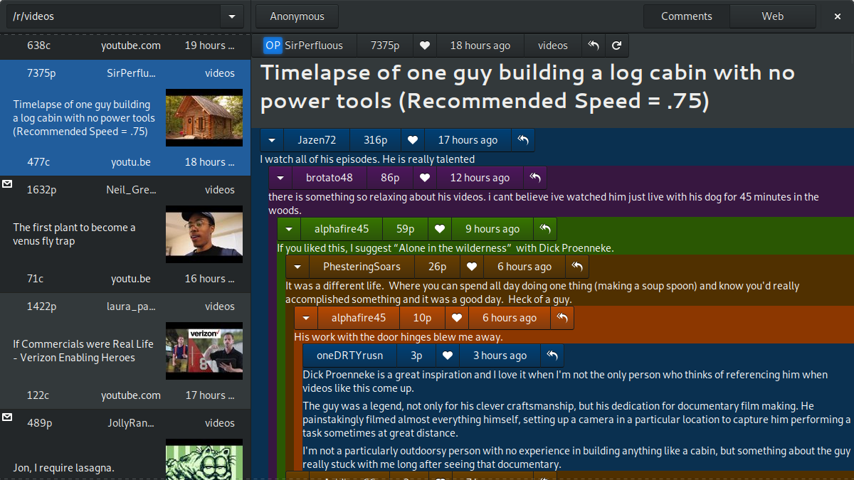 Github Samdroid Apps Something For Reddit A Reddit Client For Gnome With Gtk And Python
