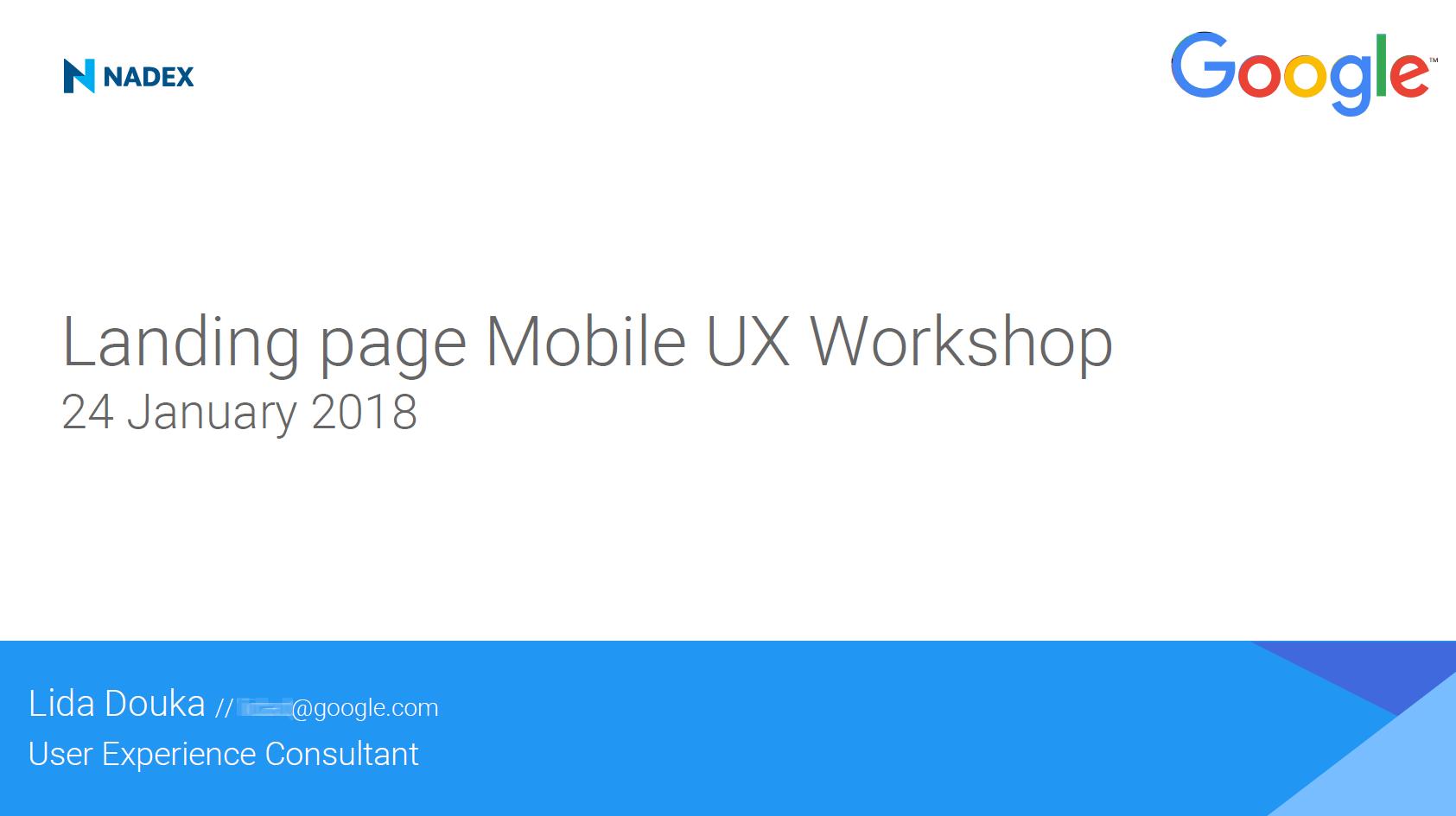 Google UX Workshop