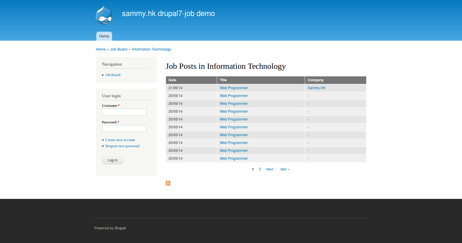 drupal7-job screenshot