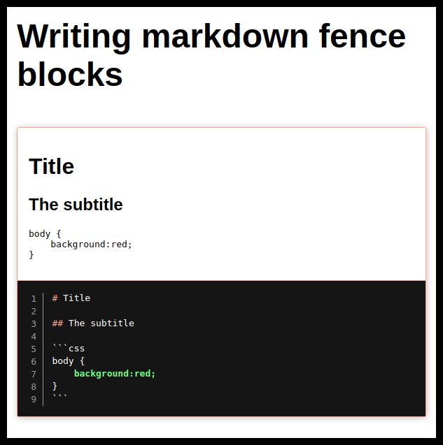 Fence Blocks in Markdown