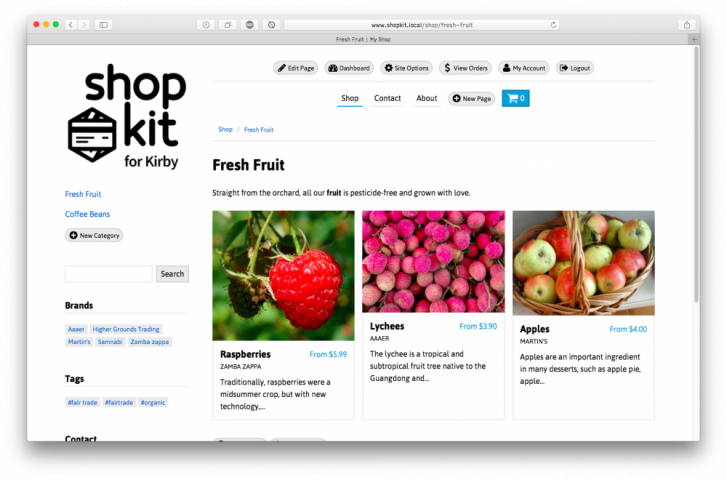 Shopkit sets you up with detailed product blueprints and beautiful, flexible templates