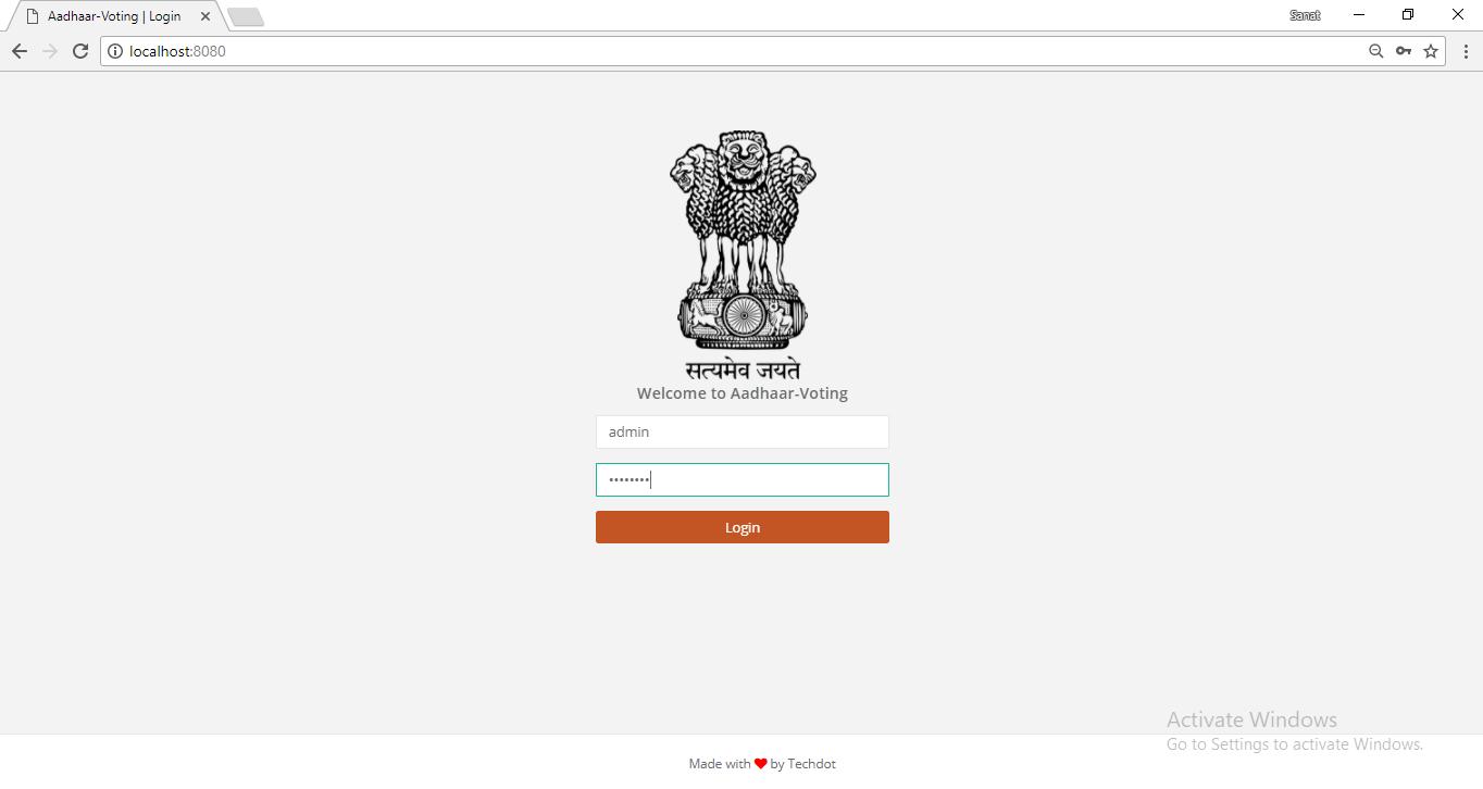 GitHub - sanattaori/techdot: Aadhaar Based voting system