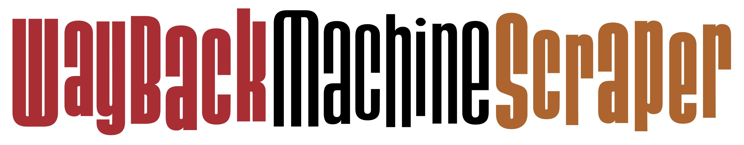 The Wayback Machine Scraper Logo
