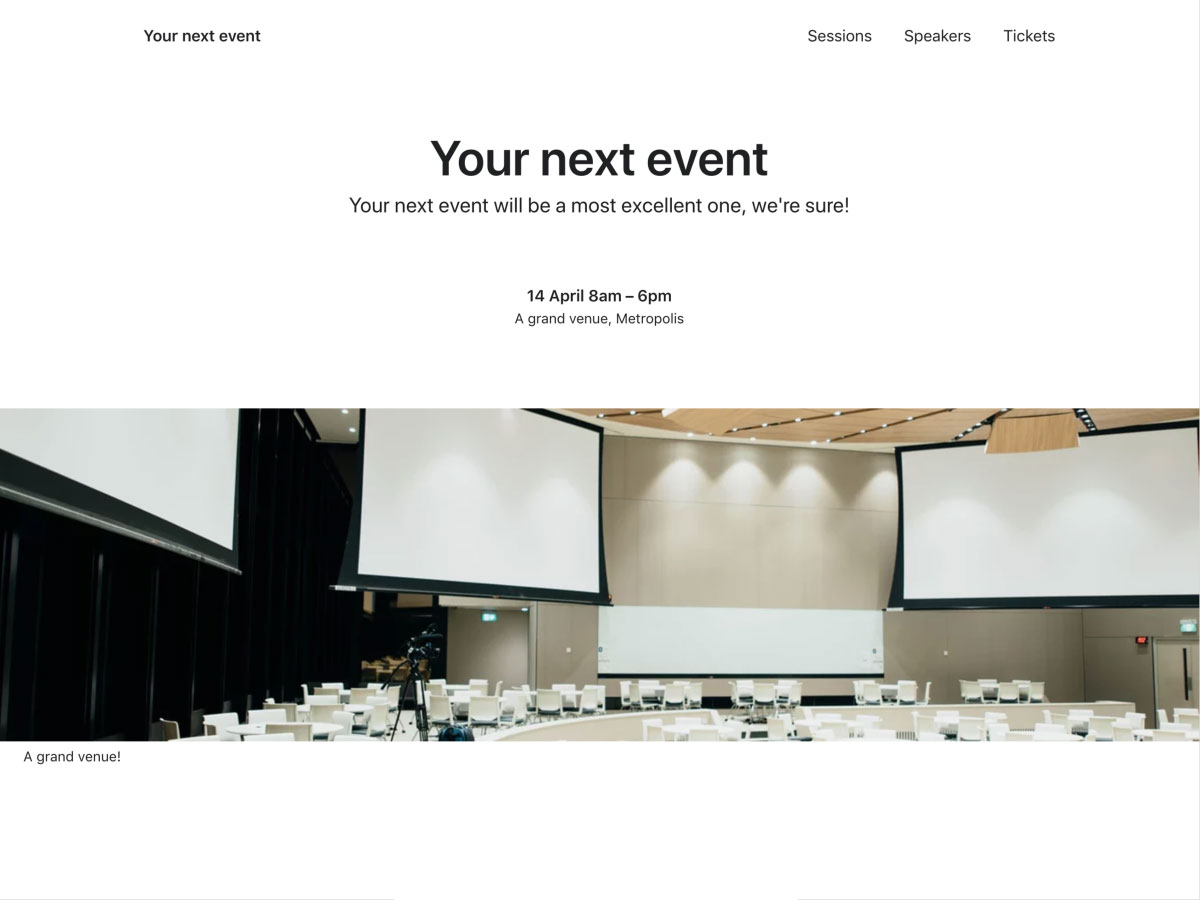 Create Events with Nuxt js | Sanity io