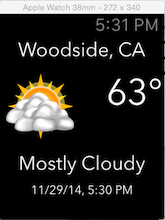 Location-aware weather app