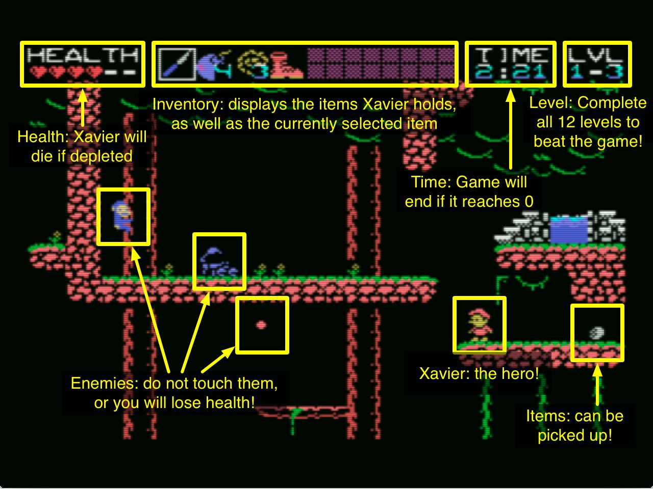 in game screen