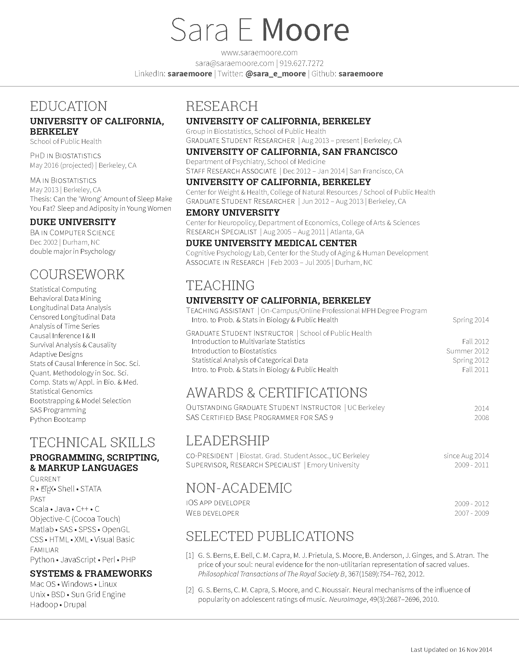 GitHub   Saraemoore/SMoore Deedy Resume: A Two Column XeTeX Resume ...  Font On Resume
