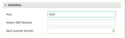 SQL port number