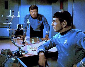 """3D chess on Star Trek (from the episode """"Court Martial"""")"""