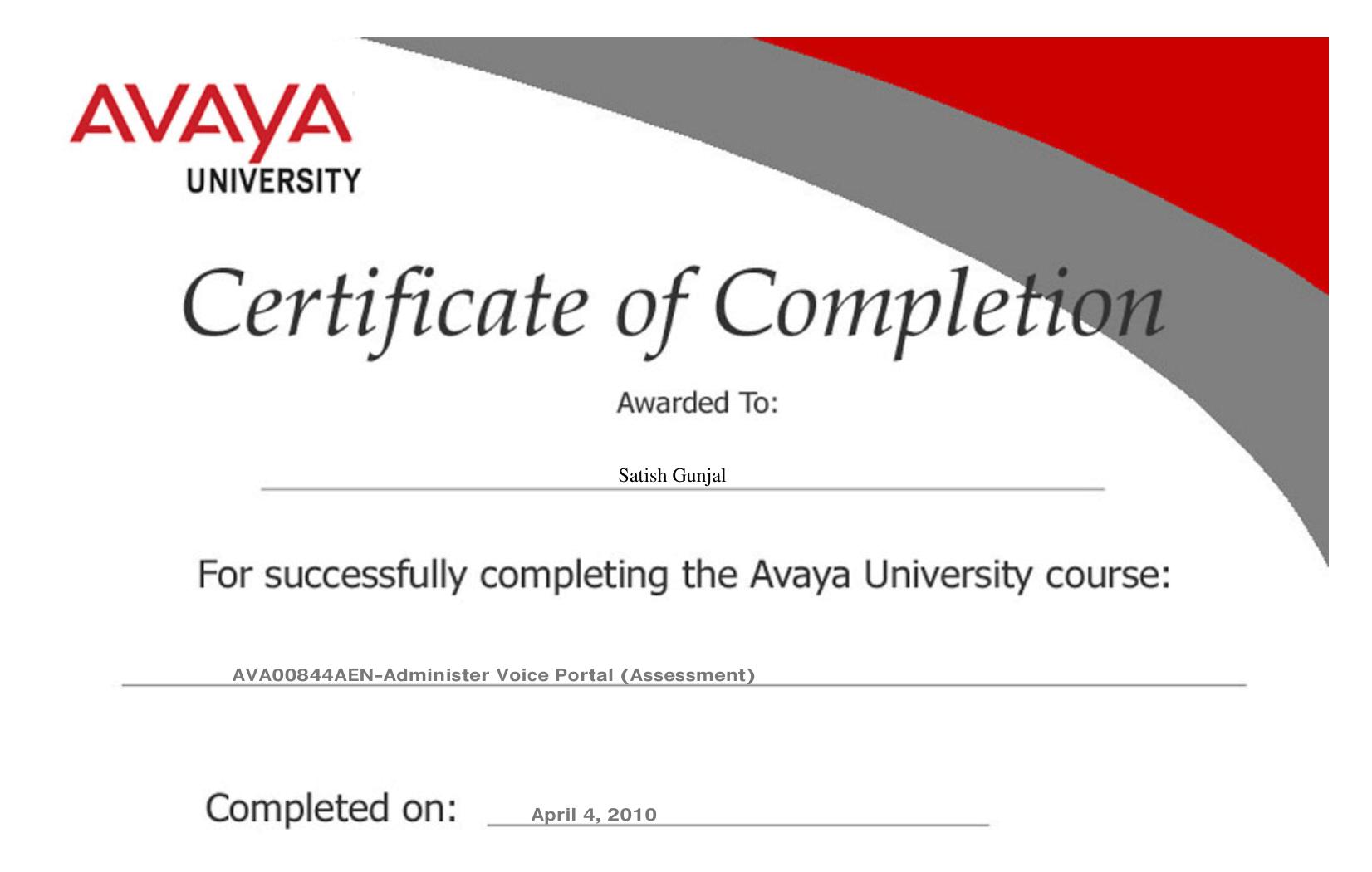 Avaya Administer Voice Portal Assessment
