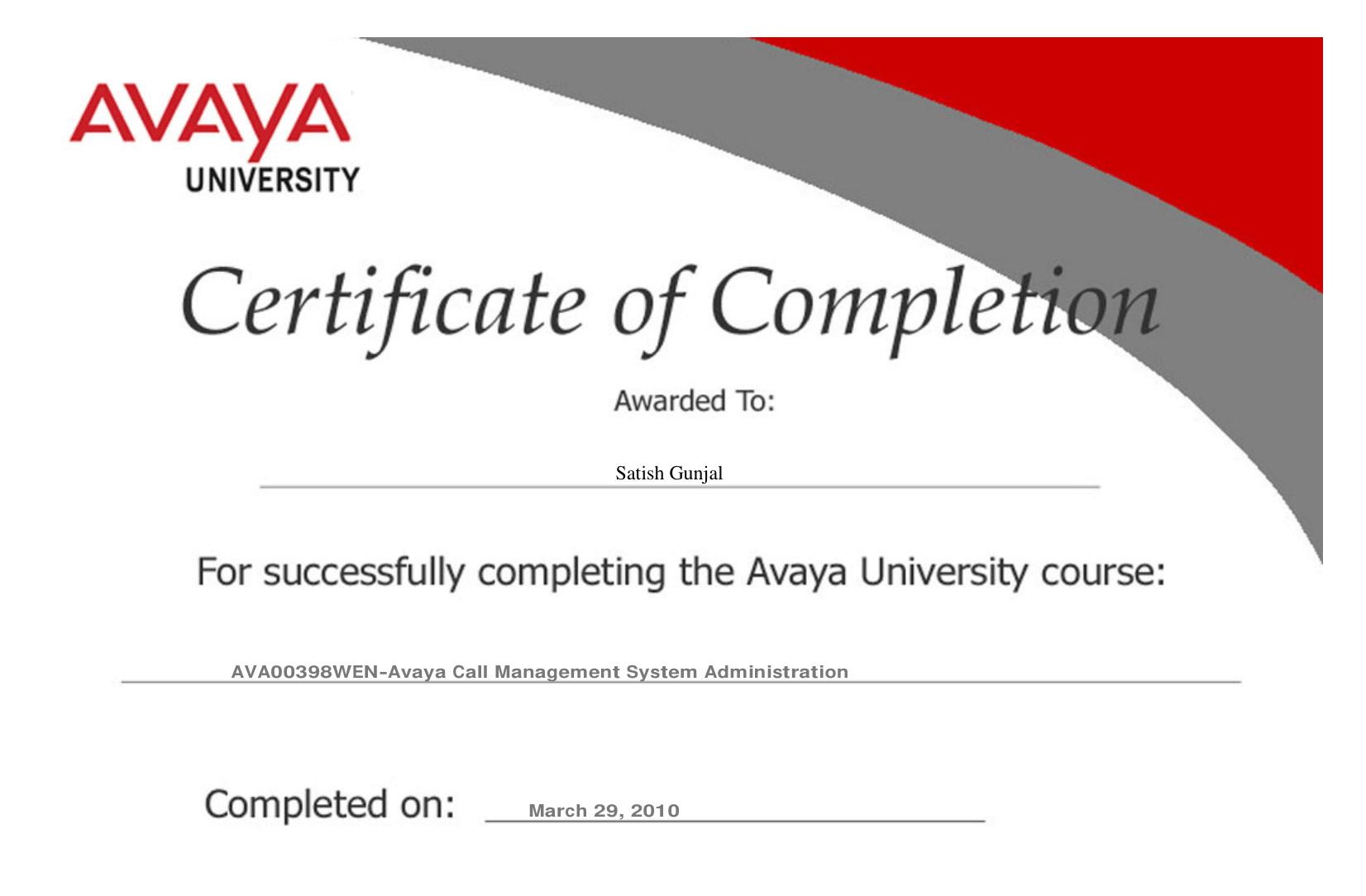 Avaya Avaya Call Management System Administration