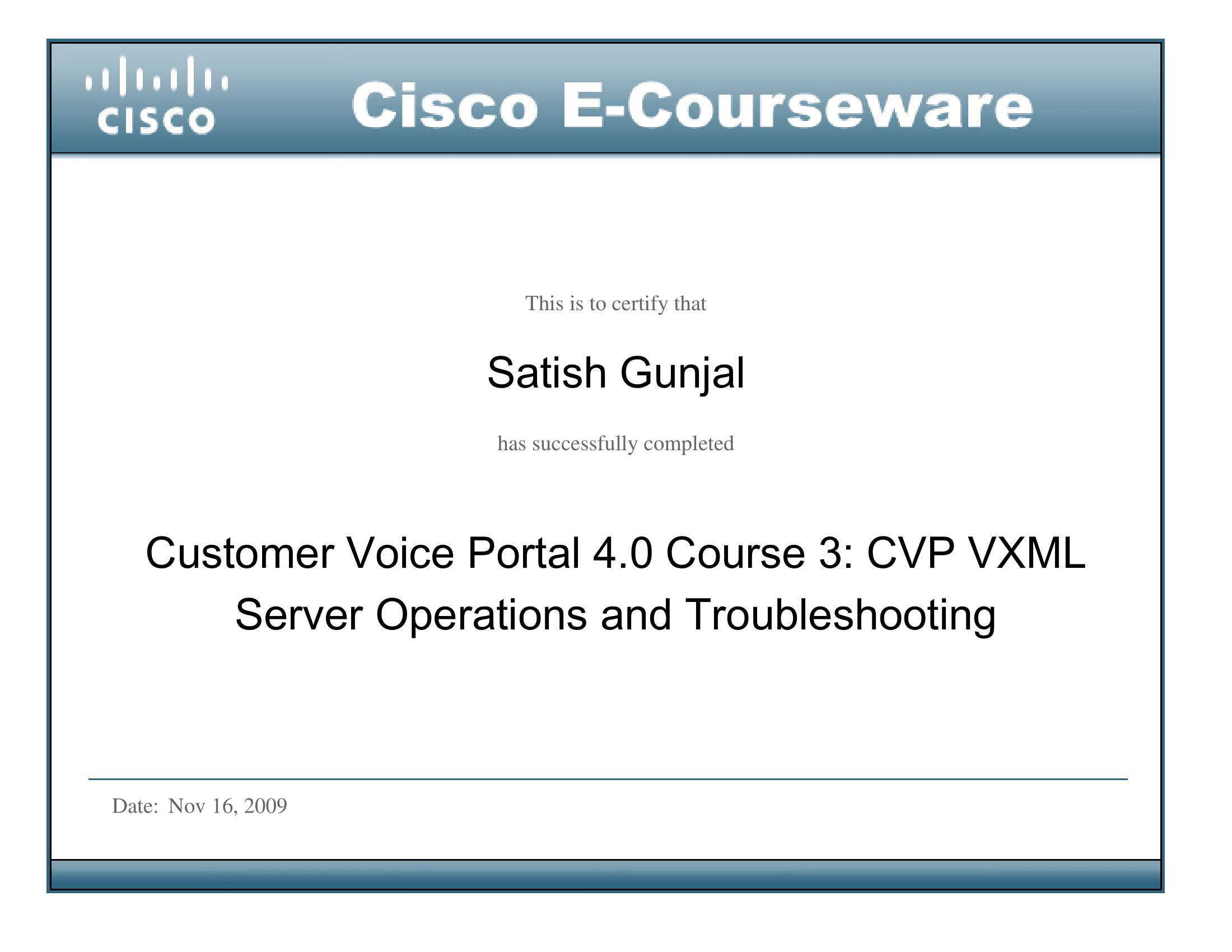 CVP 4.0 Course 3 CVP VXML Server Operations and Troubleshooting