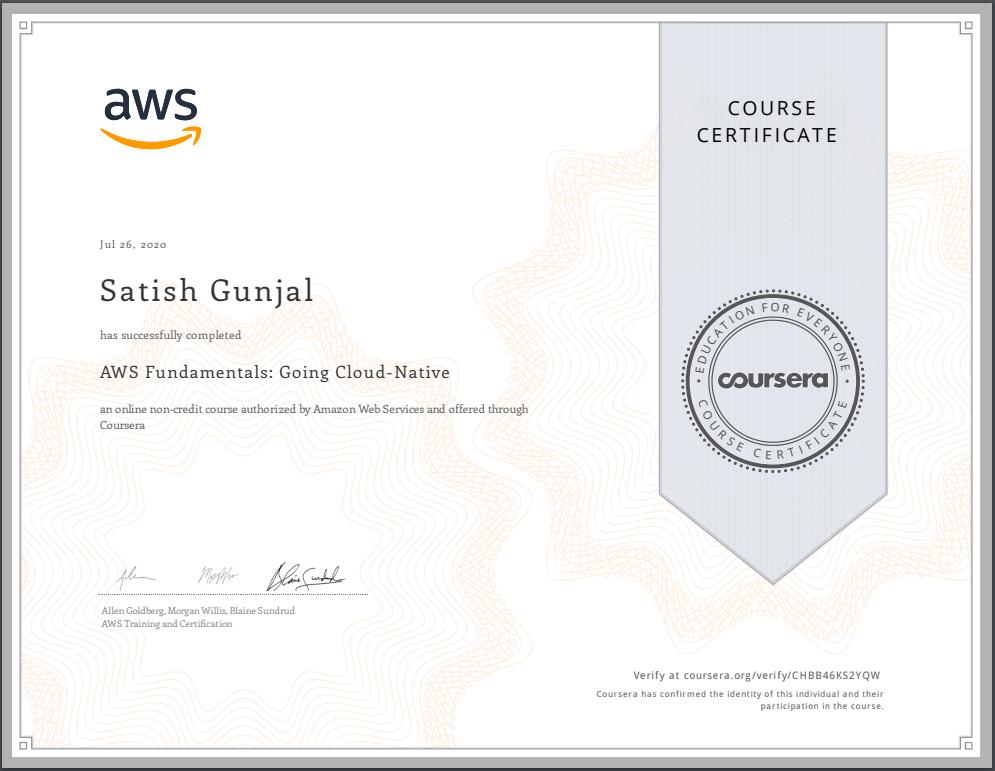 AWS Fundamentals Going Cloud Native